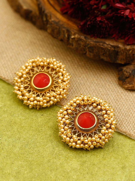 Rakhi Antique Zirconia Studs