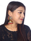 Red Mayu Jhumki Earrings