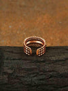 Rose Gold Benito Adjustable Zirconia Ring