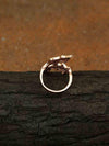 Rose Gold Dean Adjustable Zirconia Ring