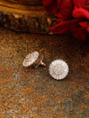 Rose Gold Ethyl Zirconia Studs