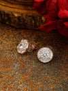 Rose Gold Eulia Zirconia Studs