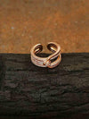 Rose Gold Jeff Adjustable Zirconia Ring