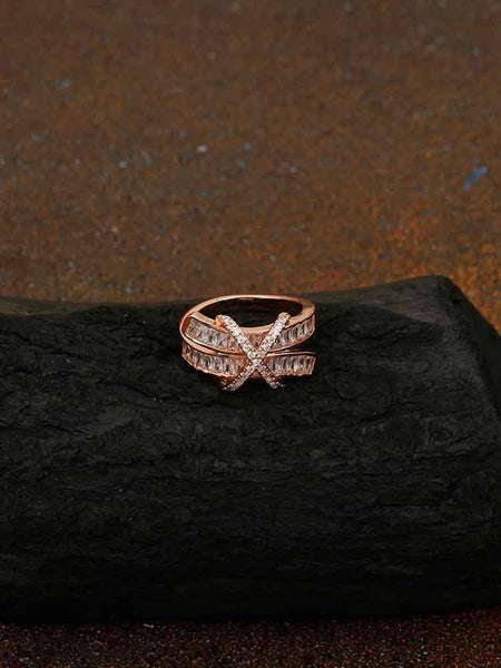 Rose Gold Kareena Zirconia Ring