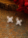 Rose Gold Kitty Zirconia Studs