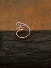 Rose Gold Viven Adjustable Zirconia Ring