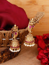 Ruby Nandika Gold Plated Temple Earrings