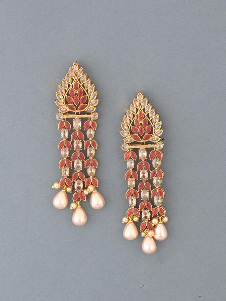 Ruby Devsena Designer Earrings
