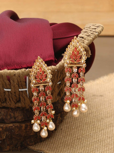 Ruby Rubina Designer Earrings