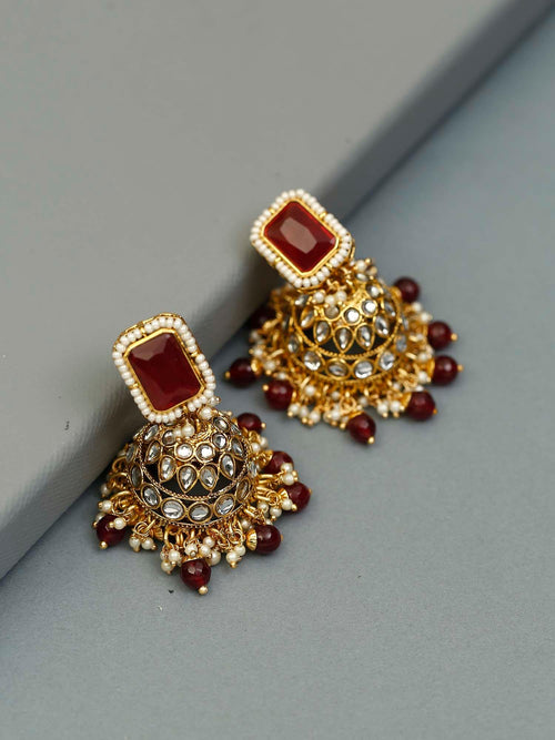 Ruby Jivantika Designer Earrings