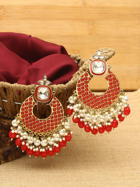 Ruby Aboli Kundan Necklace Set