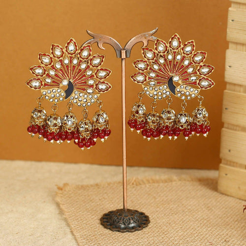Ruby Mayur Designer Earrings
