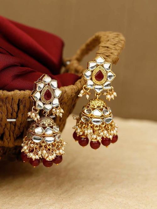Ruby Nalini Kundan Earrings