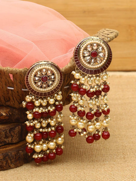 Ruby Panchali Designer Earrings