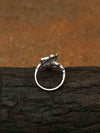 Silver Dean Adjustable Zirconia Ring