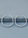 Silver Anjum Designer Hoop Earrings