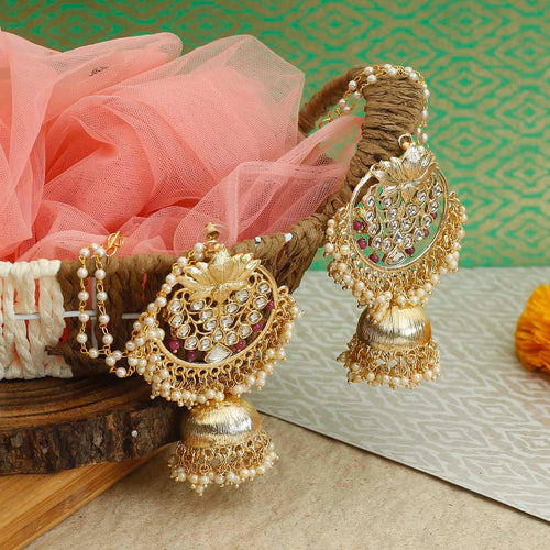 Soni Magenta Jhumki Designer Earrings