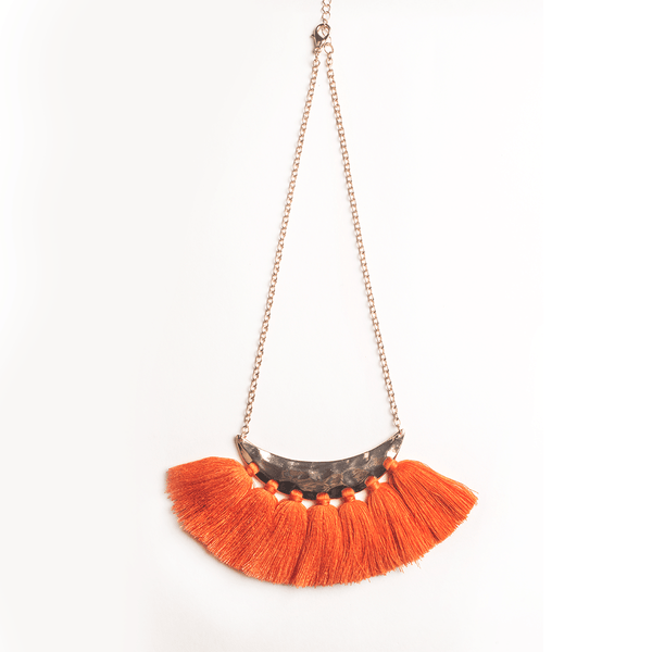 Tangerine Tassel Necklace - Bling Bag