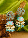 Turquoise Daliha Jhumki Earrings