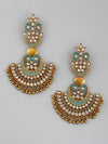 Turquoise Rania Chaandbali Earrings