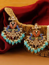 Turquoise Rohini Designer Earrings