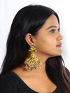 Yellow Gharara Designer Earrings
