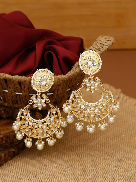 Golden Heramba Gold Plated Temple Earrings
