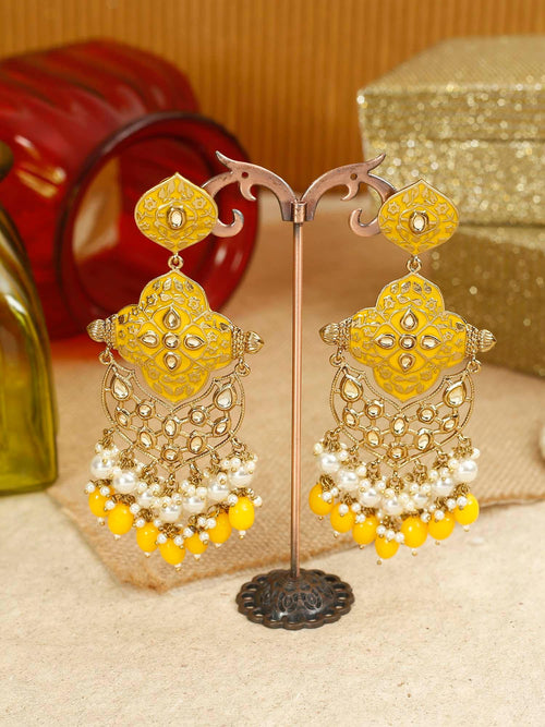 Yellow Tanya Designer Earrings