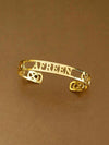 Golden Infinity Adjustable Form Name Bracelet