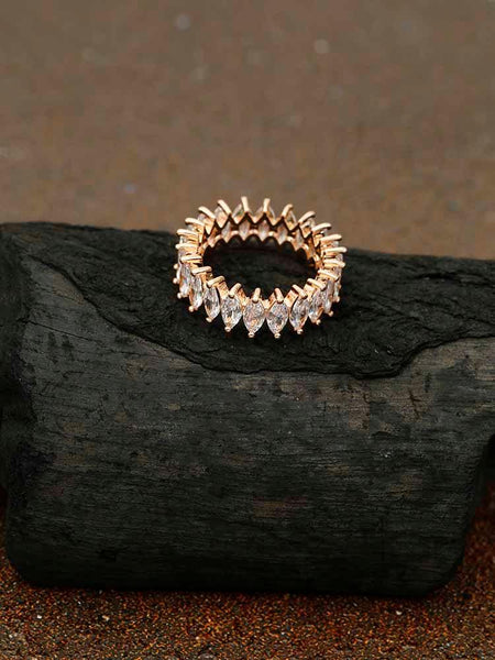 Rose Gold Shatki Zirconia Ring