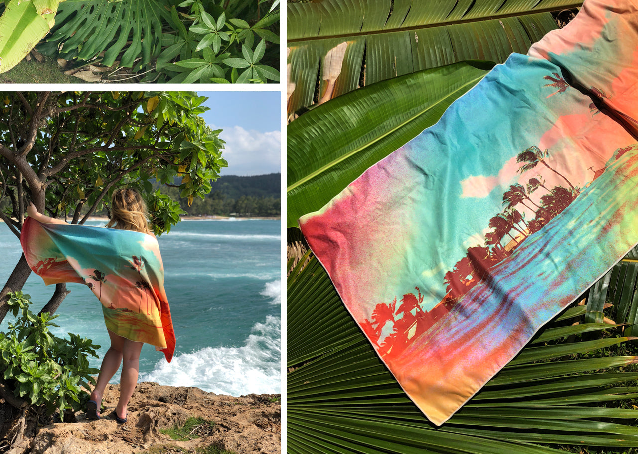 Abbi Tropics Surfer Towel by Matthew Allen