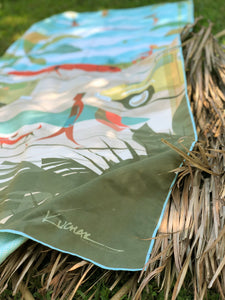 Fast drying, eco friendly, and super compact - The Kama'aina towel is sure to be your favorite beach accessory!