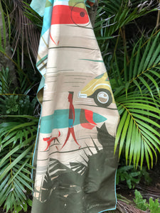 Rock some vintage surfer vibes with the Kama'aina Towel! Fast drying, eco friendly, and totally stylish!