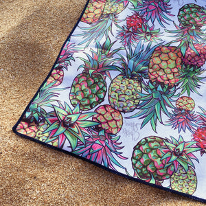 Aloha Pineapple is the perfect beach towel for your dream vacation. Quick drying, easy to travel with, and totally stylish!