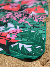 Say hello to your new beach accessory with the PLANT ALOHA  by Kim Sielbeck - a quick drying, beautifully designed, eco friendly surfer towel!