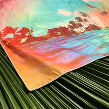 TROPICS corner of surfer towel by Matthew Allen - Double sided, quick drying and made from eco friendly material!