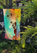 TROPICS - surfer towel hanging in jungle by Matthew Allen - Double sided, quick drying and made from eco friendly material!