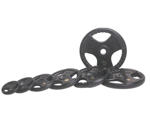 3 Holes Black Rubber Coated Olympic Plate