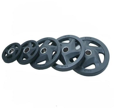 5 Holes Black Rubber Coated Olympic Plate