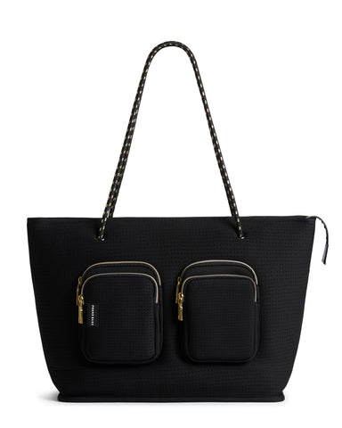 THE VOYAGER BAG (BLACK CROC) NEOPRENE TOTE
