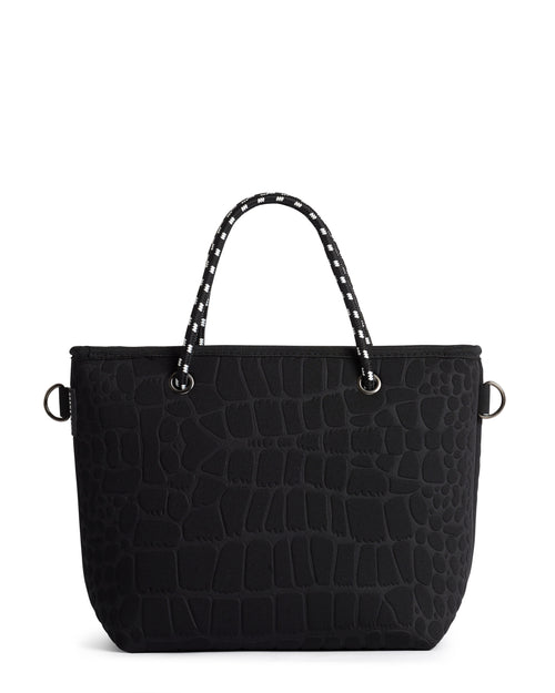 THE PEBBLES (BLACK CROC) NEOPRENE CROSSBODY / HAND BAG