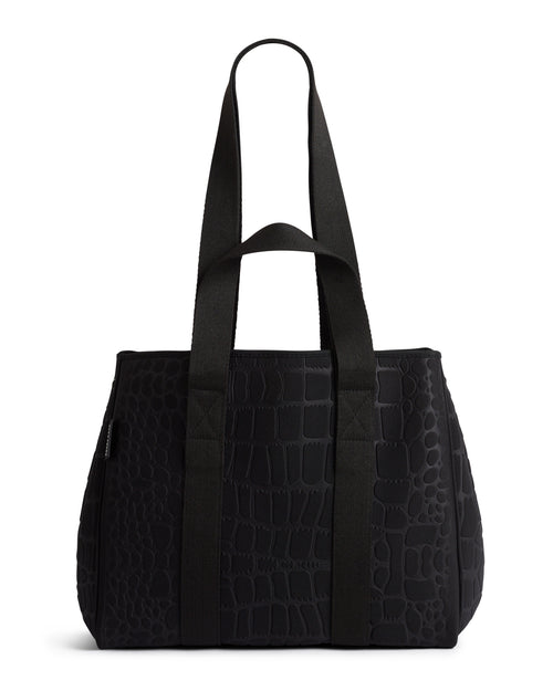 THE WILD GIGI BAG (BLACK CROC) NEOPRENE TOTE