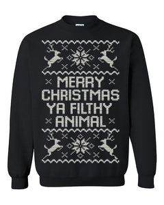 Merry Christmas Ya Filthy Animal Ugly Christmas Seater Christmas Sweatshirt gift Home Alone Crewneck Sweater