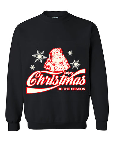 Enjoy Christmas Tis The Season Ugly Christmas Seater Christmas Sweatshirt Christmas gift Crewneck Sweater