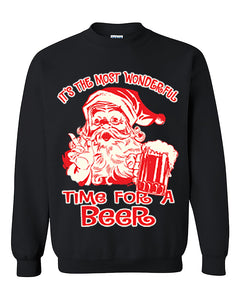 It's The Most Wonderful Time for a Beer Ugly Christmas Seater Christmas Sweatshirt Christmas gift Crewneck Sweater