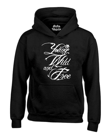 Young Wild And Free Cute Funny Unisex Hoodie
