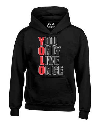 YOLO You Only Live Once Red And White Cute Fashion Funny Unisex Hoodie