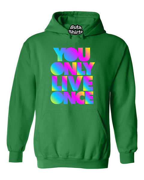 YOLO You Only Live Once Multi Color Cute Fashion Funny Unisex Hoodie