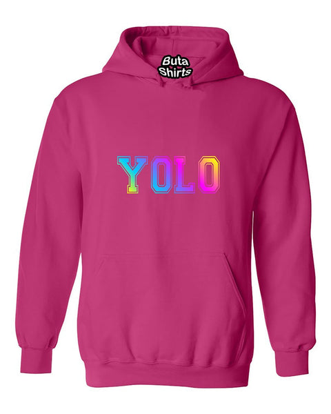 You Only Live Once YOLO Multicolors Cute Fashion Funny Unisex Hoodie