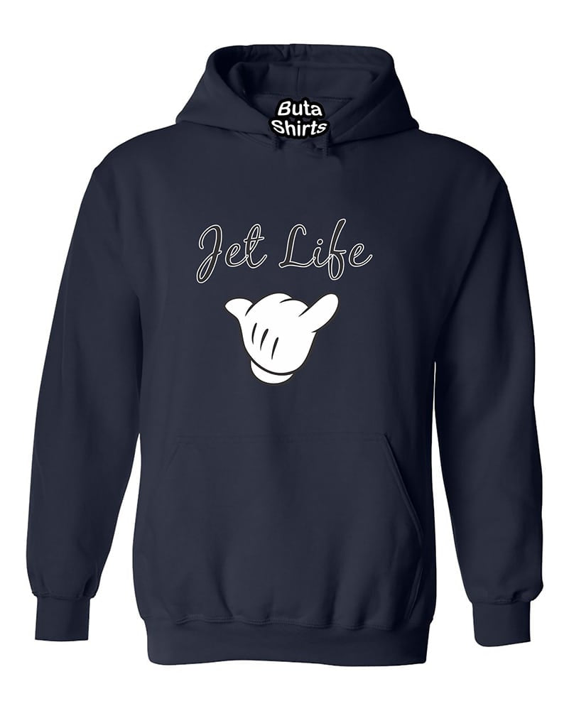 Cartoon Hands Jet Life Call Me Fashion Unisex Hoodie